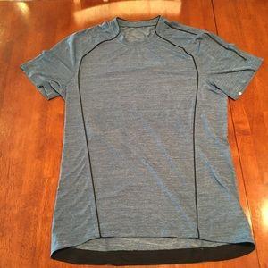 LULULEMON Mens Blue Metal Vent Slim Shirt M S